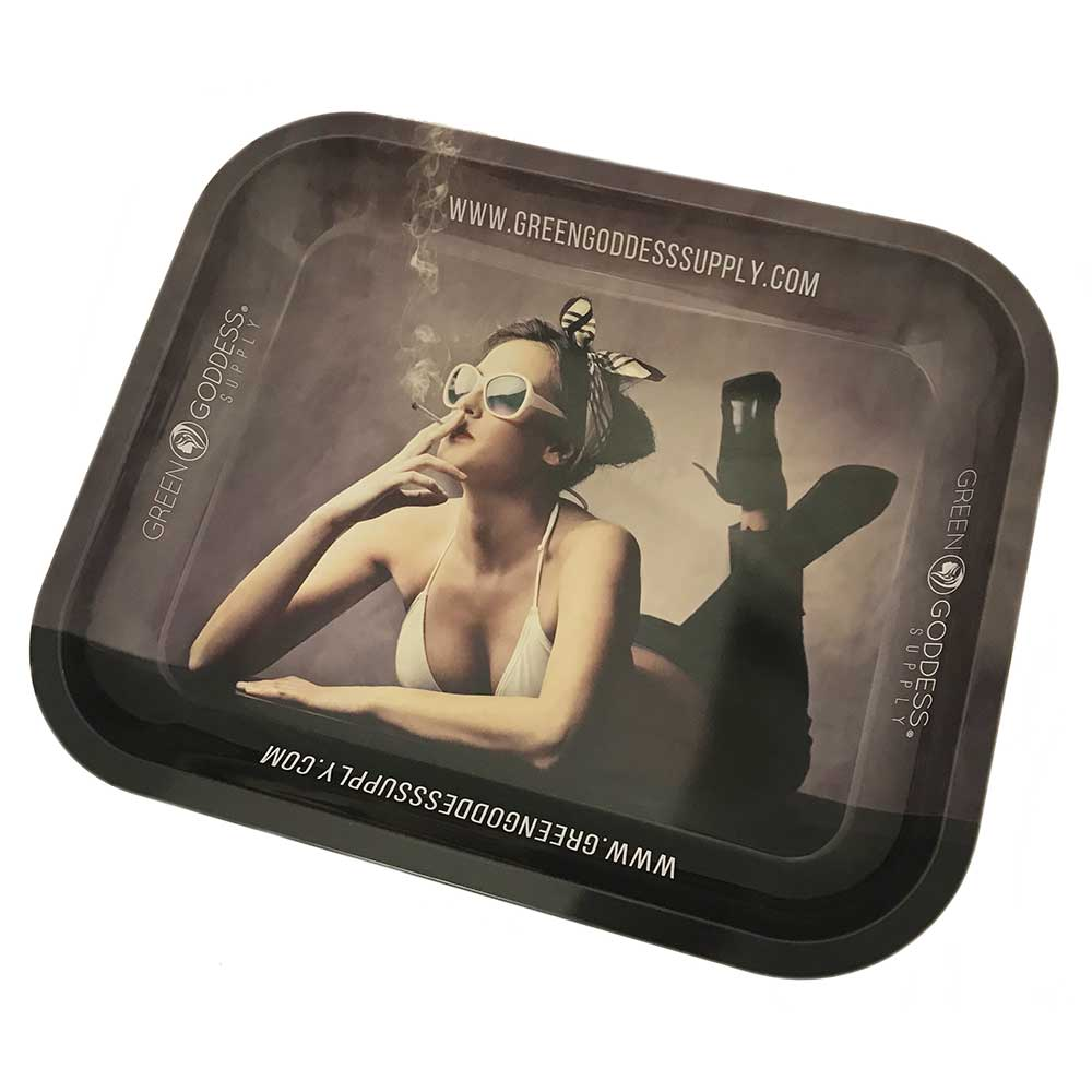 "Extra Large 14"" x 12"" Trimming Tray (Rolling Tray) - Green Goddess Supply"