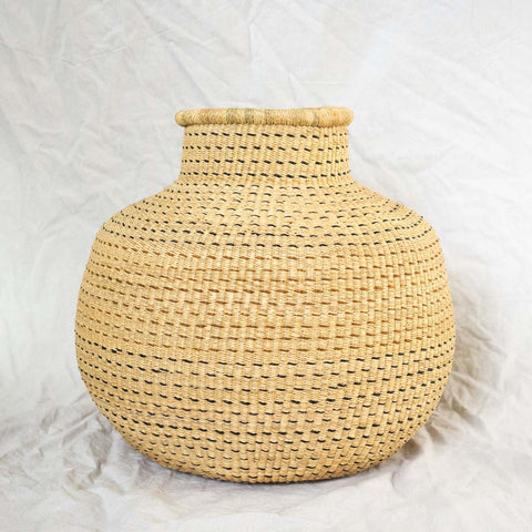 Gourd-shaped African basket from Ghana