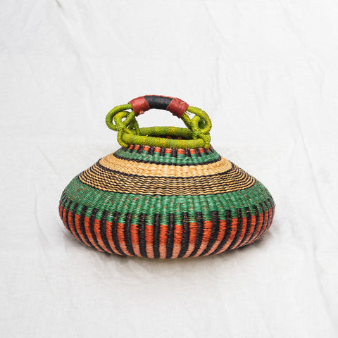 African pot basket with handle