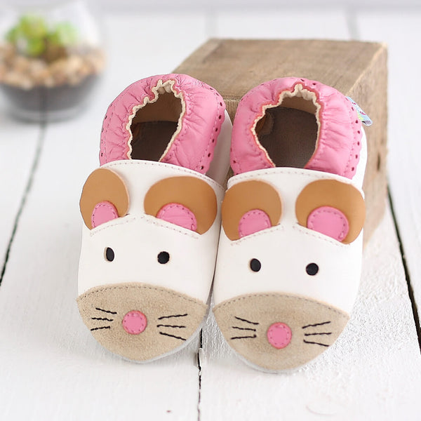 Cute Mouse Soft Leather Baby Shoes | Lifestyle