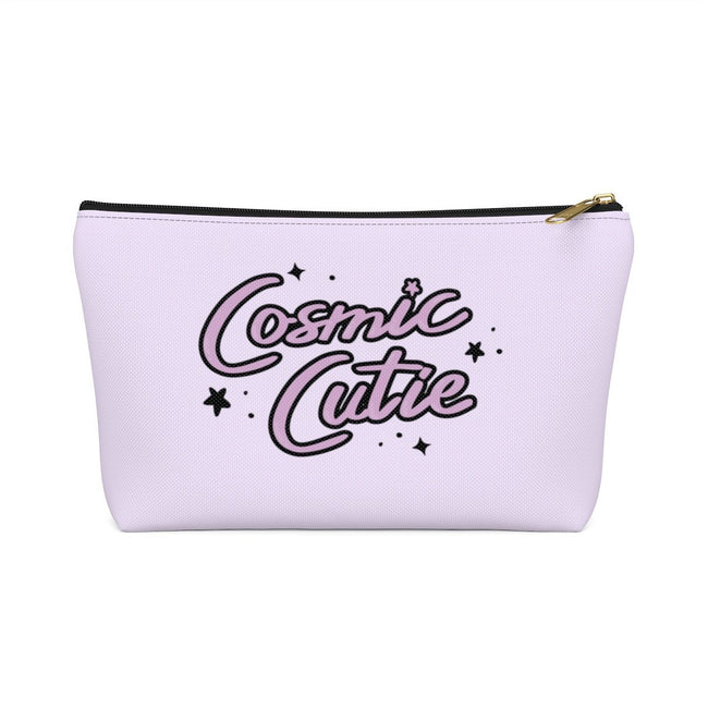 "Printify Black / Small ""Cosmic Cutie"" Make Up Pouch w T-bottom"
