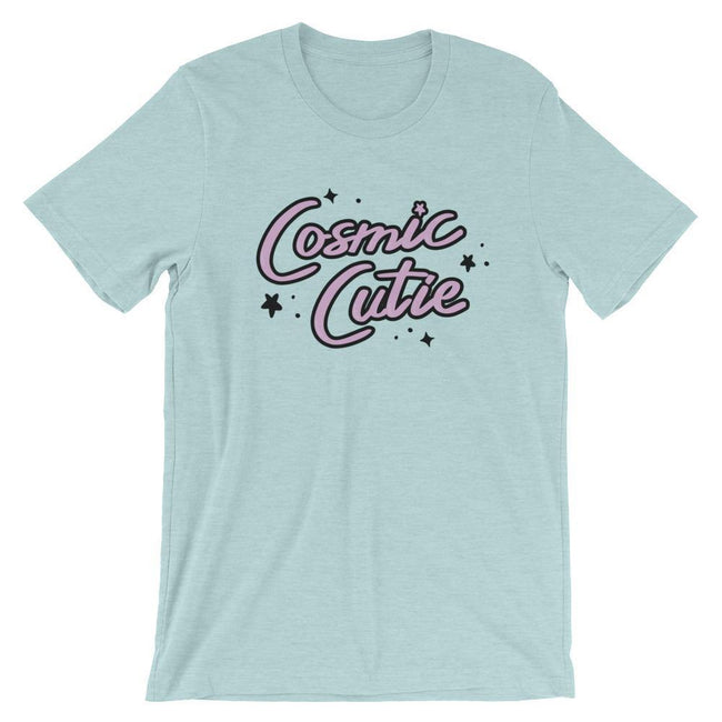 "Adorned By Chi Heather Prism Ice Blue / XS ""Cosmic Cutie"" Short-Sleeve Unisex T-Shirt"