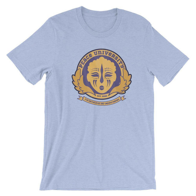 Adorned By Chi Heather Blue / S Peace University Short-Sleeve Unisex T-Shirt