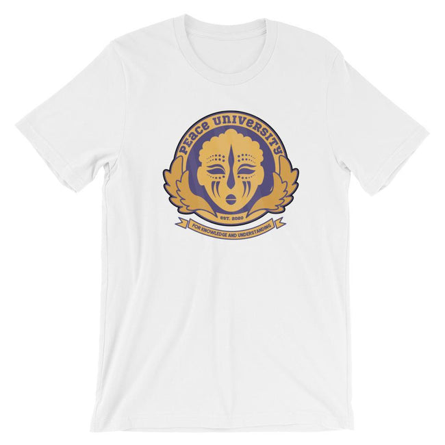 Adorned By Chi White / S Peace University Short-Sleeve Unisex T-Shirt