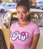 "Adorned By Chi CharityPink / XS ""Totally Fly!"" Spies Women's Scoopneck T-Shirt"