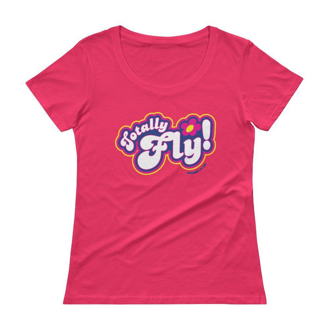 "Adorned By Chi Hot Pink / XS ""Totally Fly!"" Spies Women's Scoopneck T-Shirt"