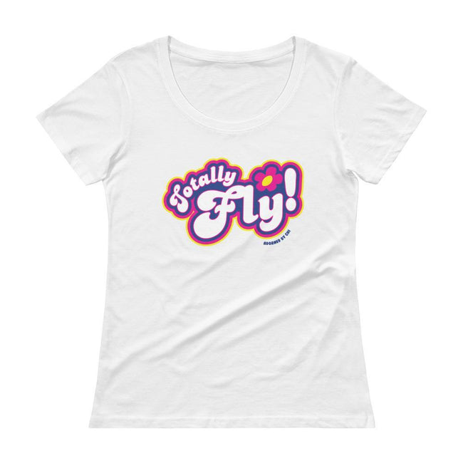 "Adorned By Chi White / XS ""Totally Fly!"" Spies Women's Scoopneck T-Shirt"