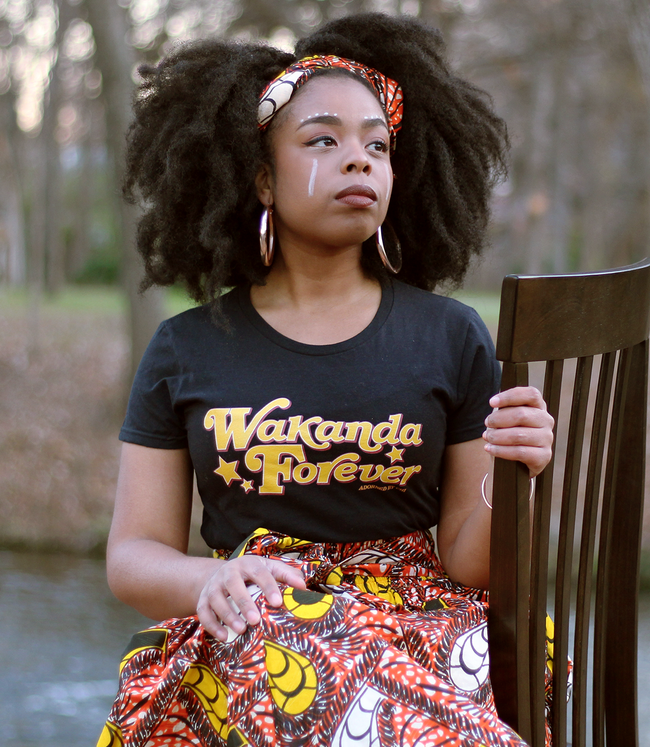"Adorned By Chi ""Wakanda Forever"" Women's short sleeve t-shirt (more colors)"