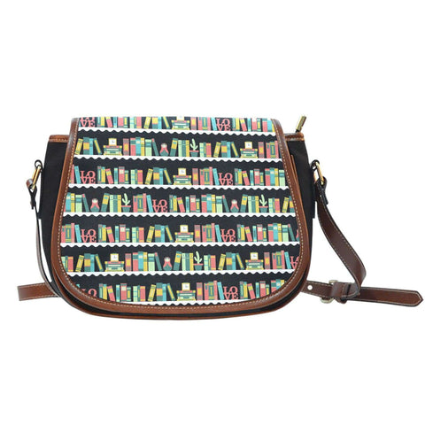 Bookshelf pattern Saddle Bags - Gifts For Reading Addicts