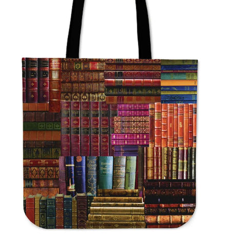 Book Spine Totes red - Gifts For Reading Addicts