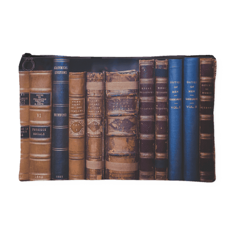 Book Spines Accessory Pouch - Gifts For Reading Addicts