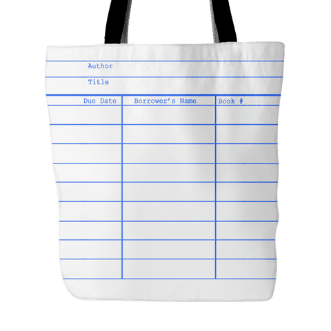 Library Card Tote, White - Gifts For Reading Addicts