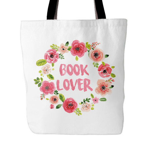 Book Lover Floral Tote Bag - Gifts For Reading Addicts