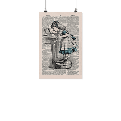 Alice in wolderland Vintage Dictionary poster - Gifts For Reading Addicts