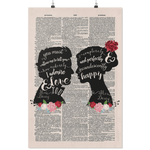 Pride and prejudice vintage dictionary poster - Gifts For Reading Addicts
