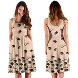 Light Brown Bookish Midi-Dress - Gifts For Reading Addicts