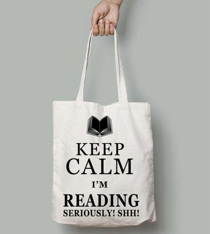Keep Calm.. Seriously - Gifts For Reading Addicts