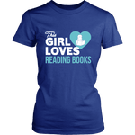 This girl loves reading books Fitted T-shirt - Gifts For Reading Addicts