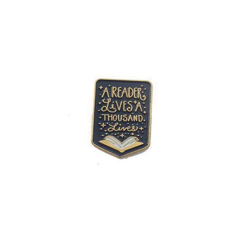 "Game of Thrones Quote Enamel Pin ""A Reader Lives a Thousand Lives"" - Gifts For Reading Addicts"