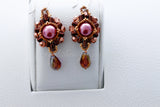 KTC-215 Beaded Pearl Dangle Earrings,  Kalitheo Jewellery,