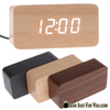 Multi-Functional Wooden Design USB/Battery Operated Digital LED Display Clock Calendar Thermometer - Gear Just For You.com