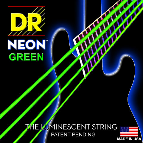 DR Strings NGB5-45 Neon Hi-Def Green 5-String Medium 45-125 Bass Guitar Strings