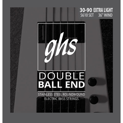 GHS 5610 Roundwound Double Ball End Extra Light 30-90 Bass Strings