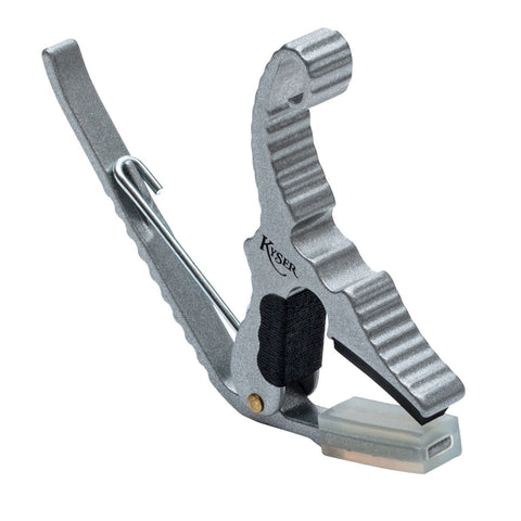 Kyser KG3S Silver Finish Short Cut Partial Guitar Capo
