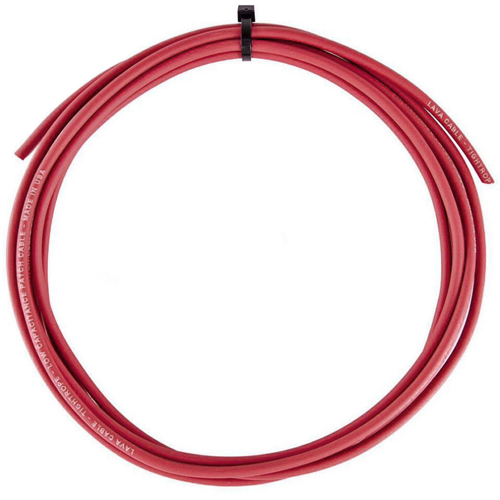 Lava Cable Red Tightrope Cable, Sold By The Foot, For Tightrope Plugs
