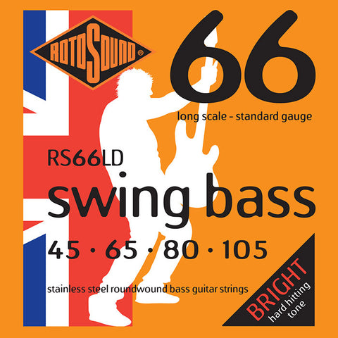 Rotosound RS66LD 45-105 Stainless Steel Swing Long Scale Guitar Strings