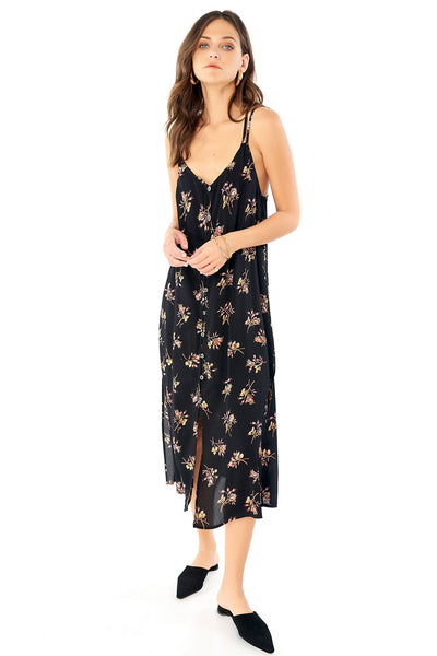 Lily Midi Dress - Bouquet,saltwater luxe,Saltwater Luxe,WOMENS