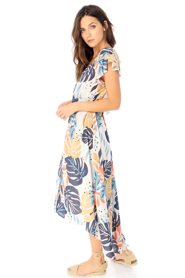 Alpine Maxi Dress - Palm,saltwater luxe,Saltwater Luxe,WOMENS