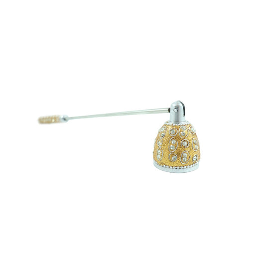 Decorative gold 13 inch candle snuffer. - Candlestock.com