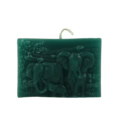 Colorful Elephant Relief Candle