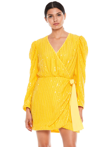 BEAMING L/S MINI DRESS
