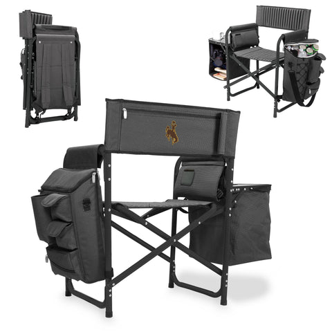 Wyoming Cowboys Fusion Chair in Fusion Grey/Black