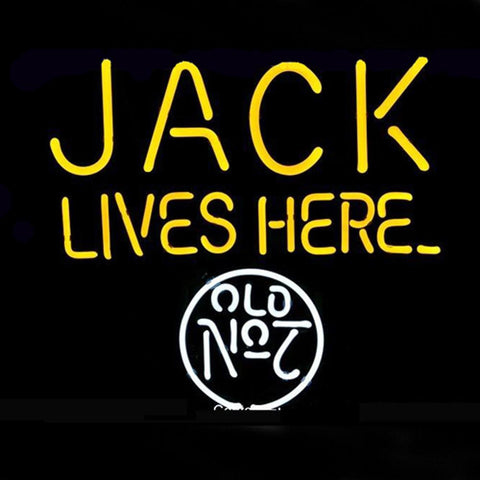 Professional  Jack Lives Here No.7 Logo Pub Store Beer Bar Real Neon Sign
