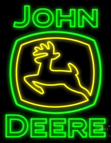 John Deere Double Stroke Neon Sign