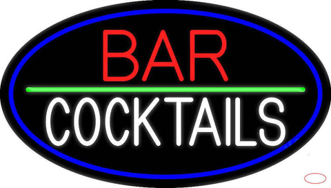 Red Bar Cocktail Real Neon Glass Tube Neon Sign