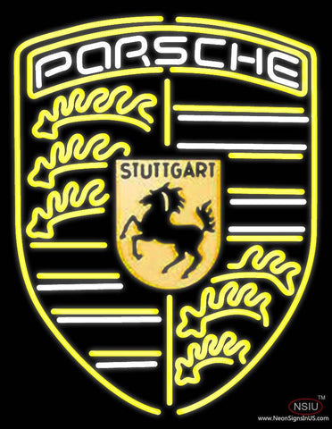 Porsche Stuttgai Real Neon Glass Tube Neon Sign