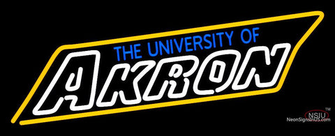 Akron Zips Wordmark  Pres Logo NCAA Neon Sign