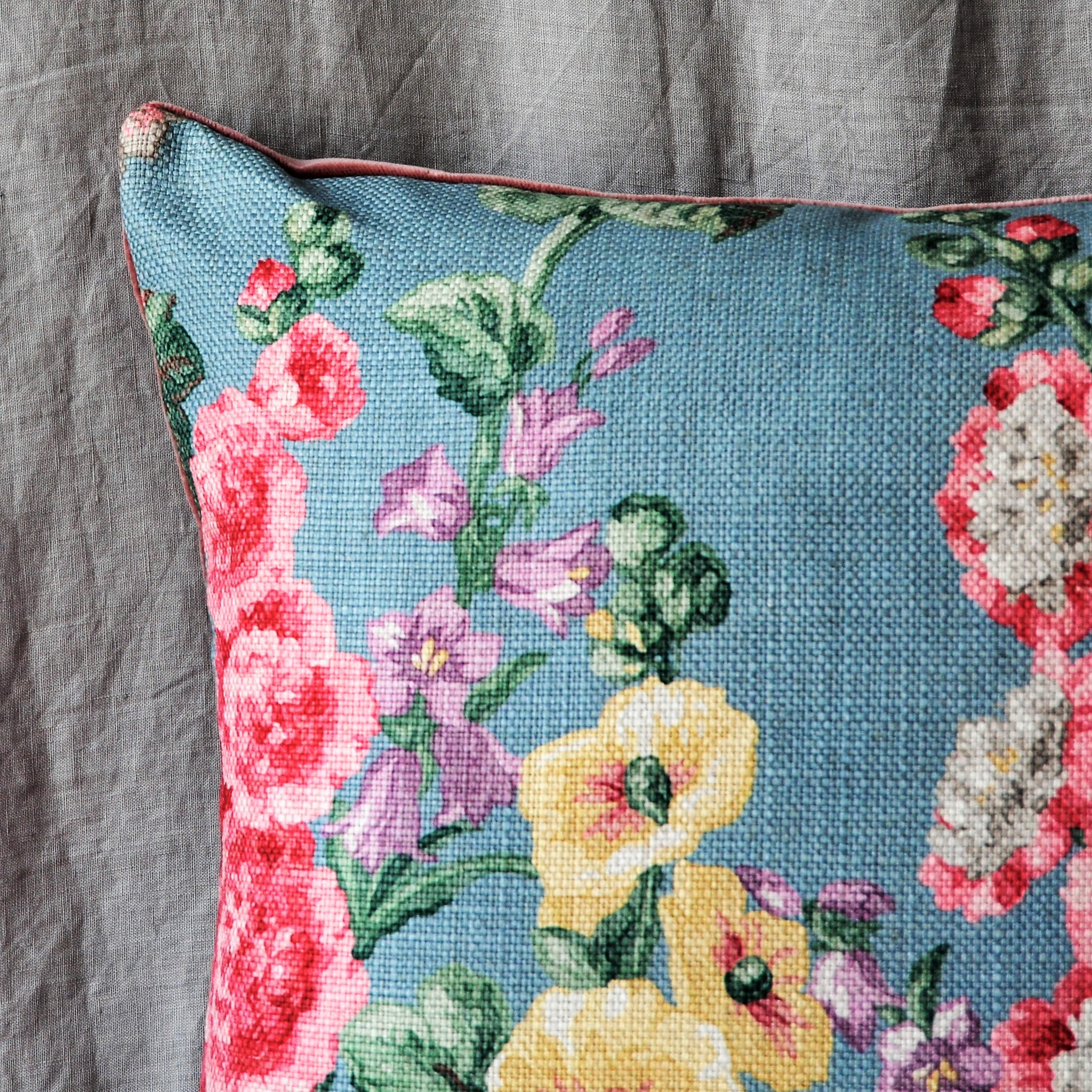 Sanderson Hollyhock Fabric Cushion