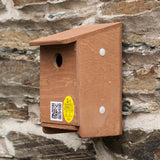 tree sparrow nest box from side