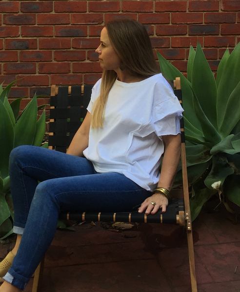 Merchants of Change Frill  White T-Shirt