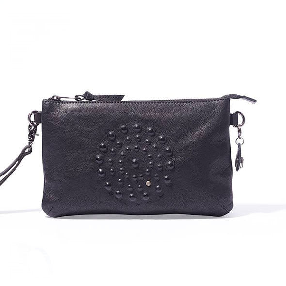NOOSA Amsterdam Divali Artwork Medium Bag Antra Black