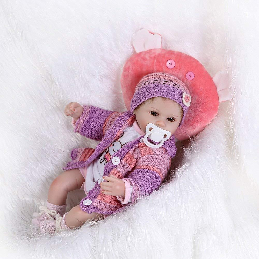 Minidiva Reborn Baby Doll, 100% Handmade 40cm Silicone Doll Girls For Kids Gifts / Toys - MiniDiva