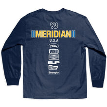 MERIDIAN RACE DAY L/S TEE // NAVY BLUE