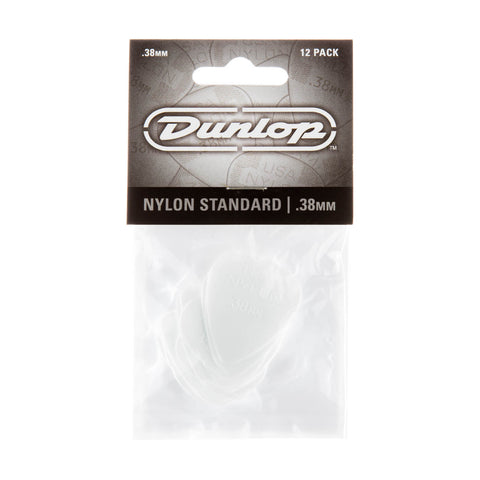 Dunlop 0.38mm Nylon Guitar Pick (12/bag)  44P-38