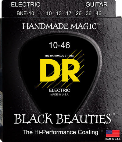 DR Electric Guitar Strings BKE-10 Black Beauties 10-46 - L.A. Music - Canada's Favourite Music Store!