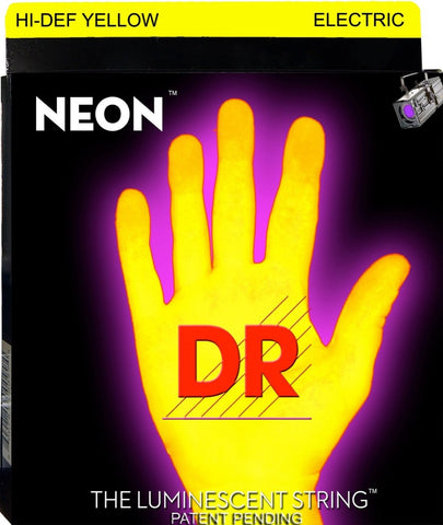 DR USA NEON HI-DEF YELLOW ELECTRIC GUITAR STRINGS 9-42 - L.A. Music - Canada's Favourite Music Store!